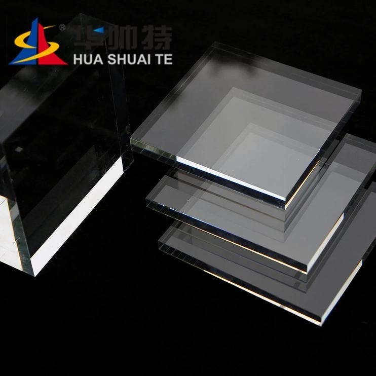 HUASHUAITE Factory Wholesale Thick Cast Plastic Plate Acrylic Sheet Plexiglass Sheet